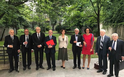 Ceremony in honour of 5 great comparatists, Paris, 15 May 2017